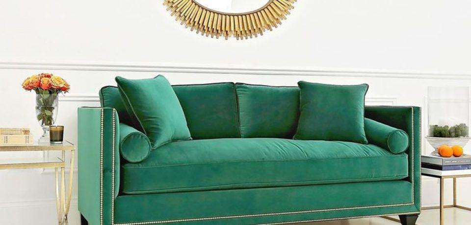 Зелёный диван в интерьере: изумруд, мята и хаки в комнате