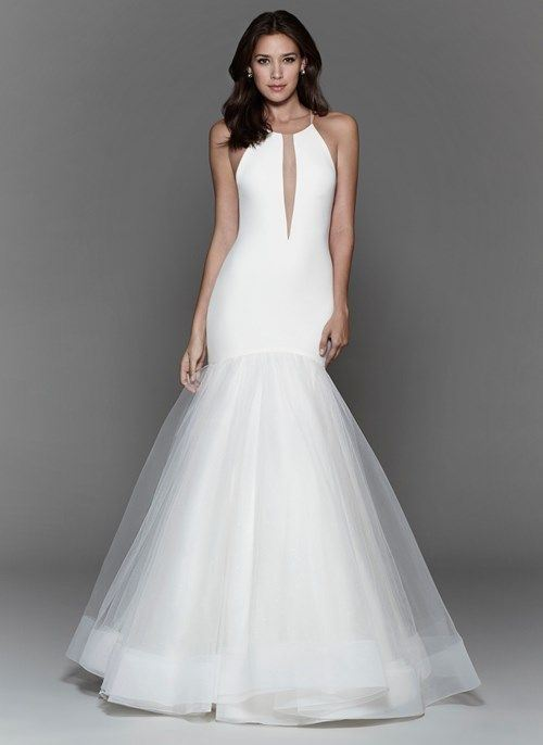 Греческие свадебные платья 2017-2018: тюлевая юбка русалка