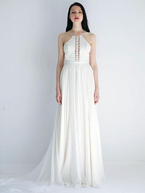 Греческие свадебные платья 2017-2018: плиссированная юбка