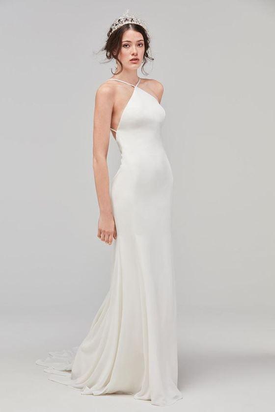 Греческие свадебные платья 2017-2018: облегающее гладкое шёлковое