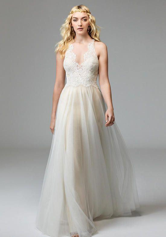 Греческие свадебные платья 2017-2018: лёгкая воздушная тюлевая юбка
