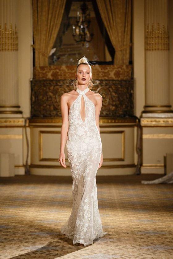 Греческие свадебные платья 2017-2018: вырез на лифе