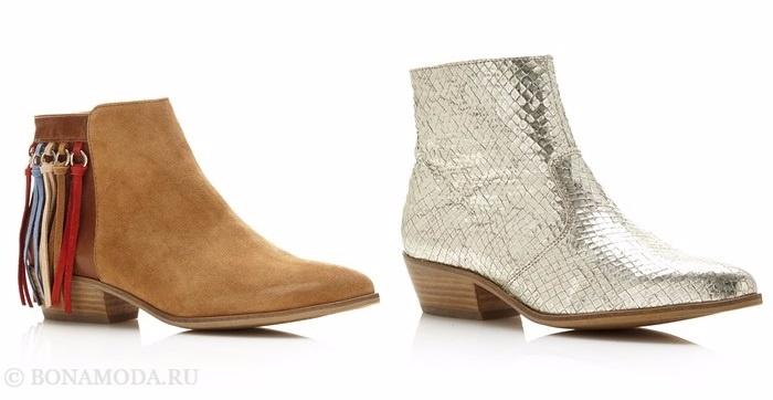 Коллекция обуви Guess весна-лето 2017: замшевые и змеиные ботильоны