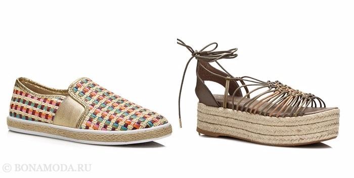 Коллекция обуви Guess весна-лето 2017: летние эспадрильи на плоском ходу