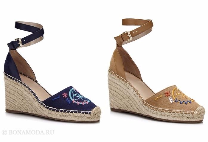 Коллекция обуви Guess весна-лето 2017: эспадрильи на танкетке