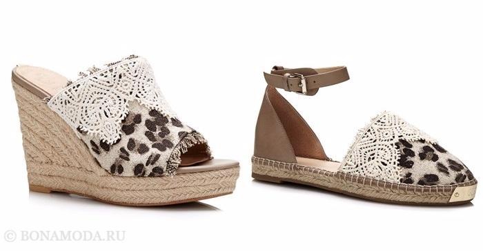 Коллекция обуви Guess весна-лето 2017: эспадрильи с леопардовым принтом и кружевным декором