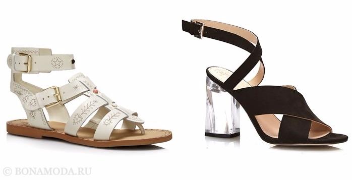 Коллекция обуви Guess весна-лето 2017: босоножки с ремешками