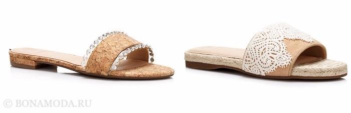 Коллекция обуви Guess весна-лето 2017: шлепанцы на плоском ходу