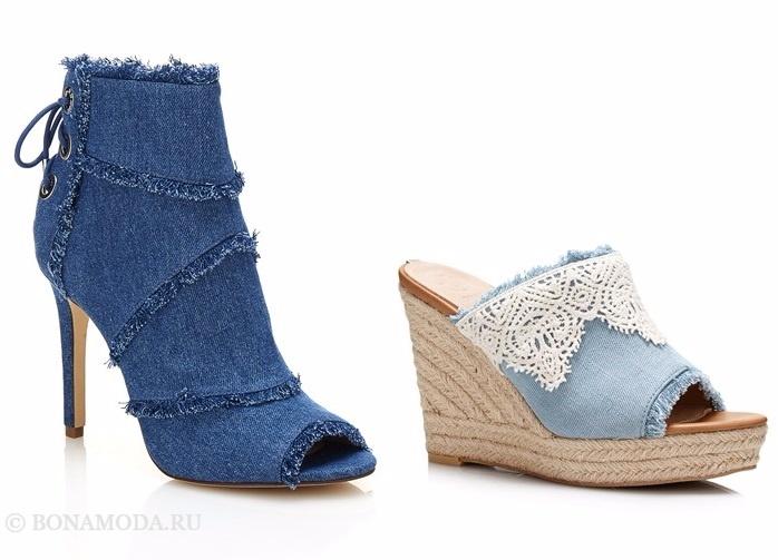 Коллекция обуви Guess весна-лето 2017: джинсовые ботильоны и эспадрильи
