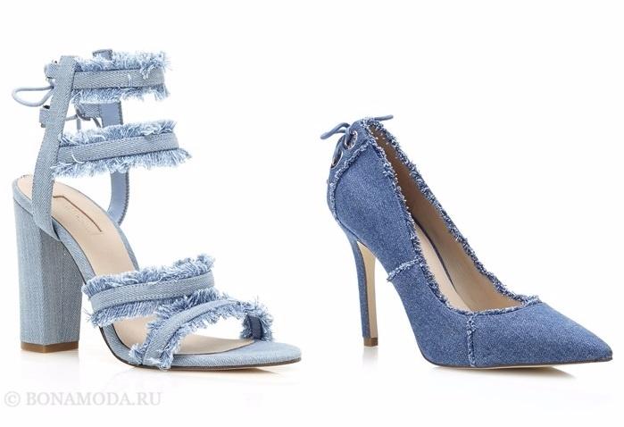 Коллекция обуви Guess весна-лето 2017: джинсовые босоножки и туфли лодочки