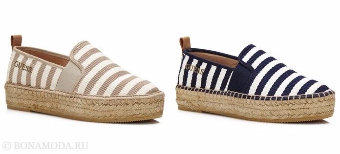 Коллекция обуви Guess весна-лето 2017: эспадрильи в полоску