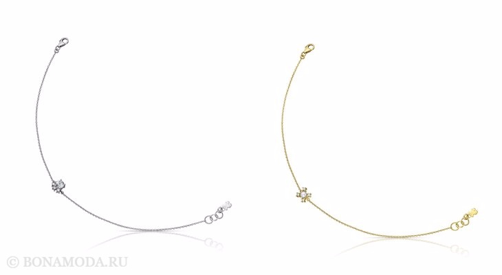Ювелирная коллекция TOUS осень-зима 2017-2018: тонкие золотые и серебряные браслеты