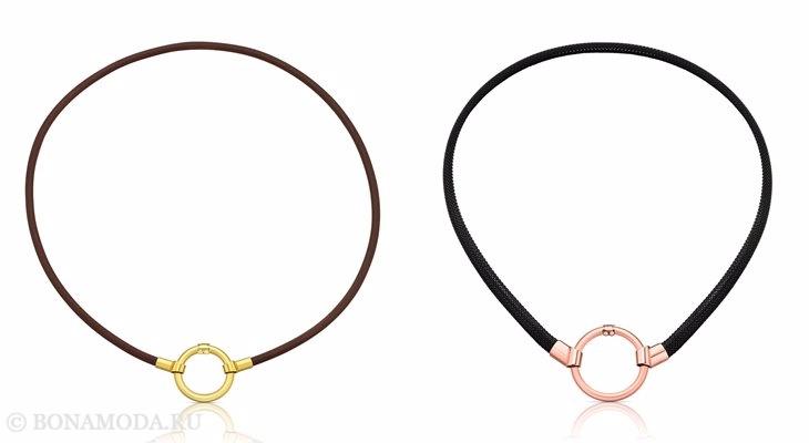 Ювелирная коллекция TOUS осень-зима 2017-2018: черный и коричневый браслет