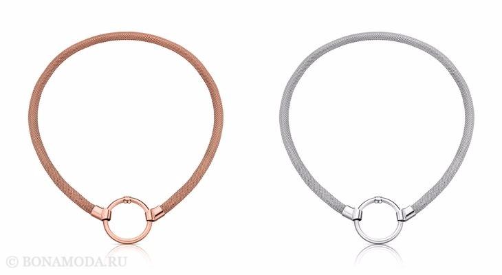 Ювелирная коллекция TOUS осень-зима 2017-2018: оранжевый и серый браслет