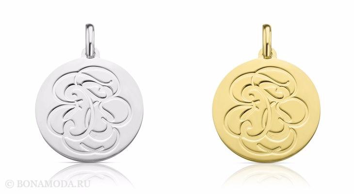 Ювелирная коллекция TOUS осень-зима 2017-2018: круглые кулоны медальоны с гравировкой