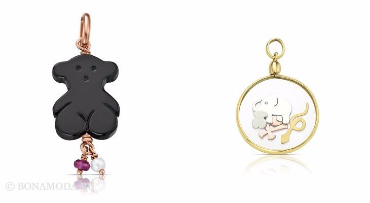 Ювелирная коллекция TOUS осень-зима 2017-2018: кулоны с мишкой и слоником
