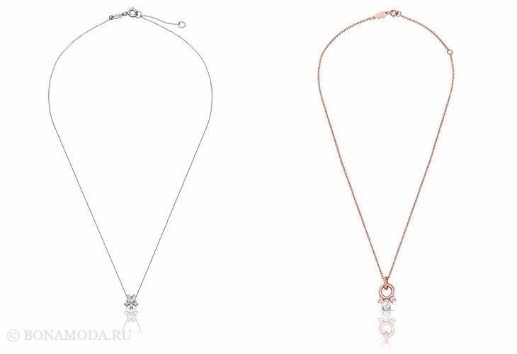Ювелирная коллекция TOUS осень-зима 2017-2018: тонкие цепочки из серебра и золота
