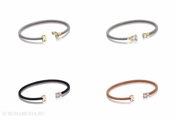 Ювелирная коллекция TOUS осень-зима 2017-2018: разомкнутые браслеты каффы