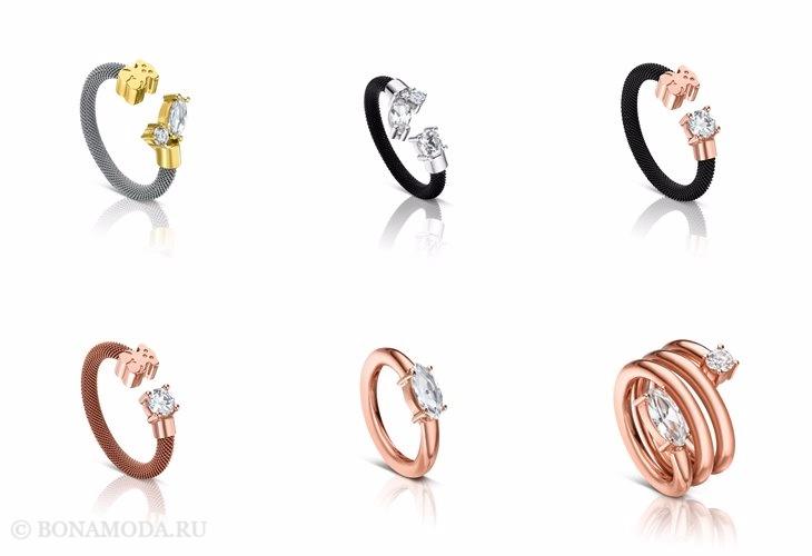 Ювелирная коллекция TOUS осень-зима 2017-2018: кольца из золота с бриллиантами