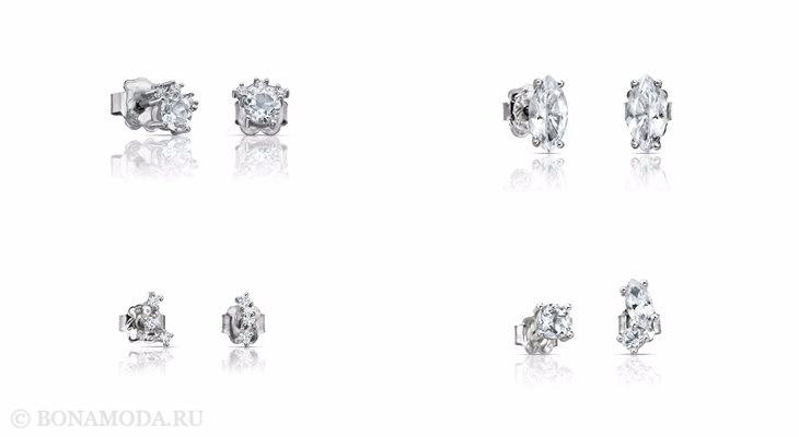 Ювелирная коллекция TOUS осень-зима 2017-2018: серьги с бриллиантами