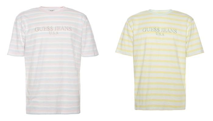 Коллекция GUESS Originals лето 2017: футболки в полоску