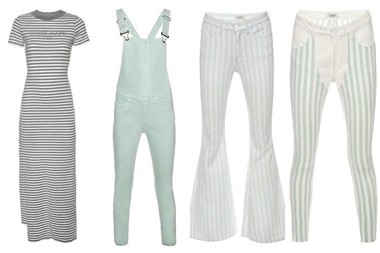 Коллекция GUESS Originals лето 2017: платья в полоску, джинсовый комбинезон и джинсы