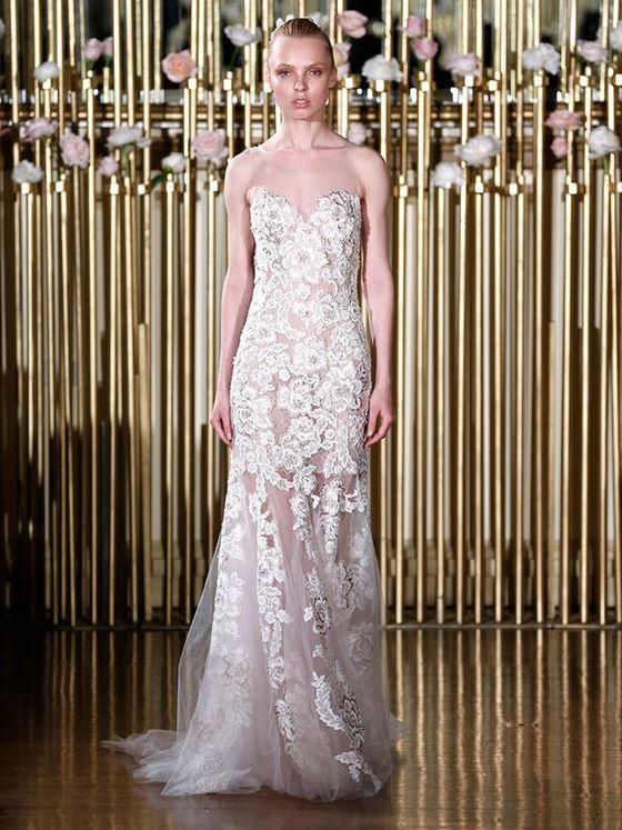 Кружевные свадебные платья 2017-2018: тюлевая юбка и лиф бюстье