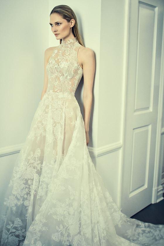 Кружевные свадебные платья 2017-2018: с американской проймой