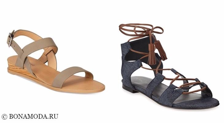Модные босоножки: тенденции 2017-2018 - римские сандалии плоские