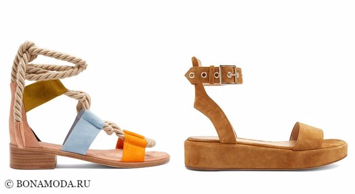 Модные босоножки: тенденции 2017-2018 - плоские летние сандалии