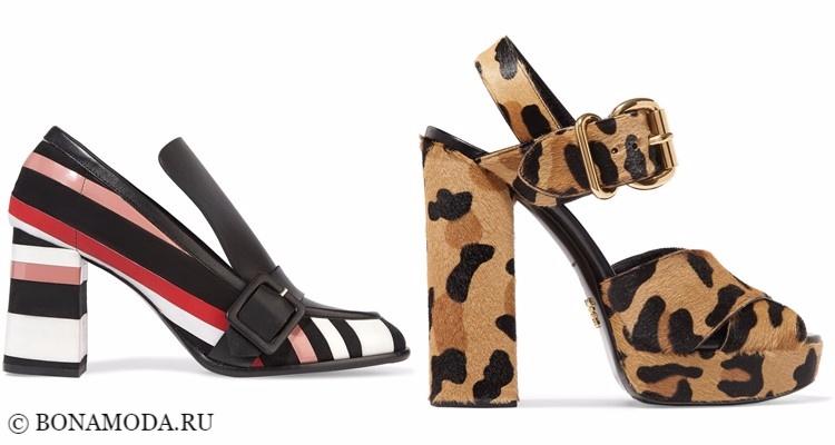 Модные туфли тенденции 2017-2018: полоска и леопардовый принт