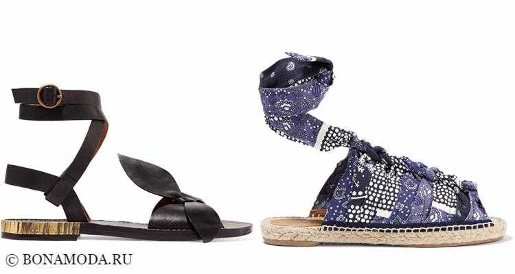 Модные туфли тенденции 2017-2018: эспадрильи и сандалии на плоском ходу