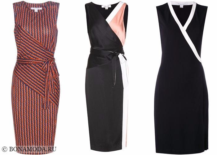 Платья-футляр (карандаш) 2017-2018: облегающие с запахом