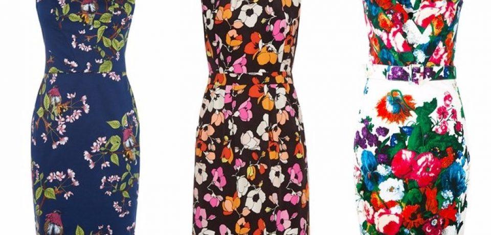 Платья с цветочным принтом 2017-2018