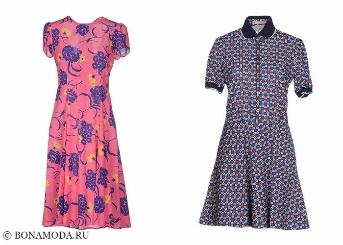 Платья с цветочным принтом 2017-2018: винтажный стиль 40-х