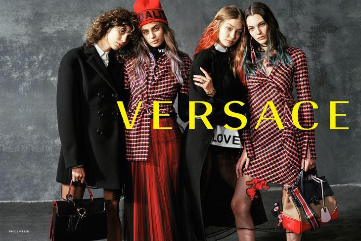 Рекламная кампания Versace осень-зима 2017-2018 - модели