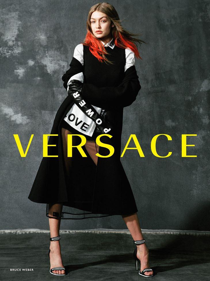 Рекламная кампания Versace осень-зима 2017-2018 - Джиджи Хадид