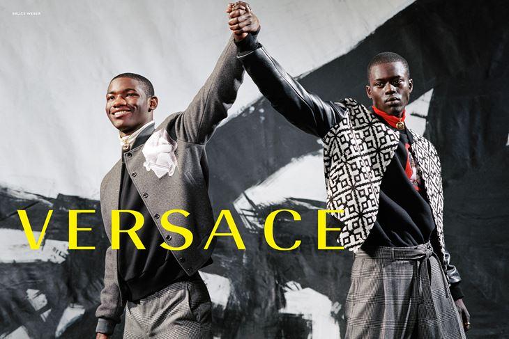 Рекламная кампания Versace осень-зима 2017-2018 - чернокожие модели