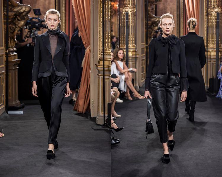 Коллекция Massimo Dutti осень-зима 2017-2018: черный комплект с брюками и жакетом
