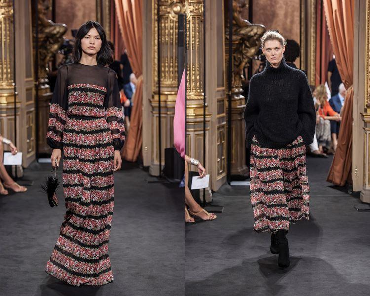 Коллекция Massimo Dutti осень-зима 2017-2018: полосатое платье и юбка с черным свитером