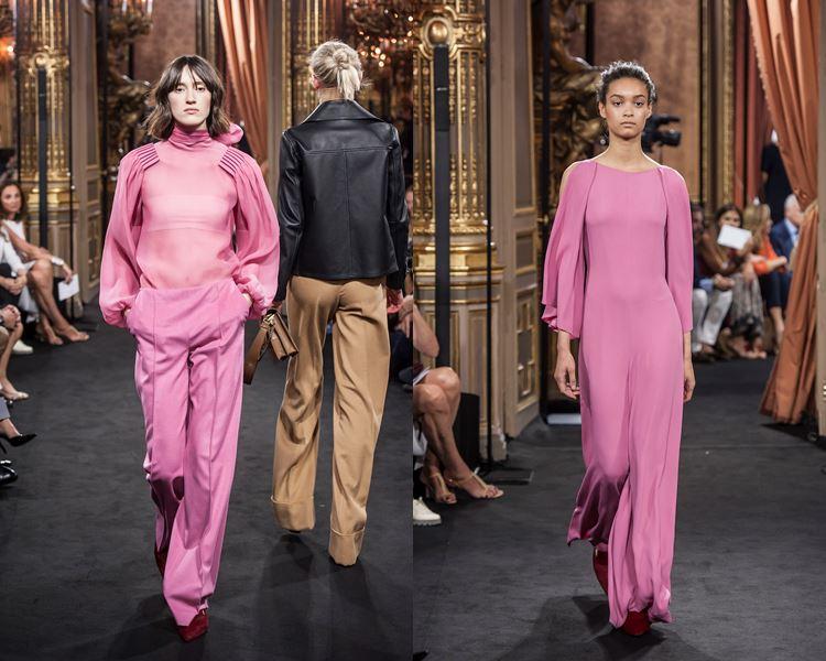 Коллекция Massimo Dutti осень-зима 2017-2018: розовый брючный костюм и длинное платье