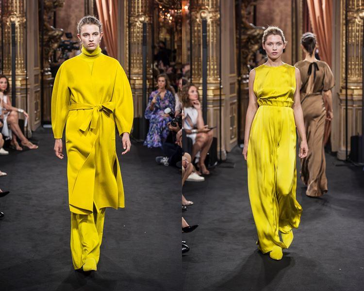 Коллекция Massimo Dutti осень-зима 2017-2018: ярко-желтое платье и пальто