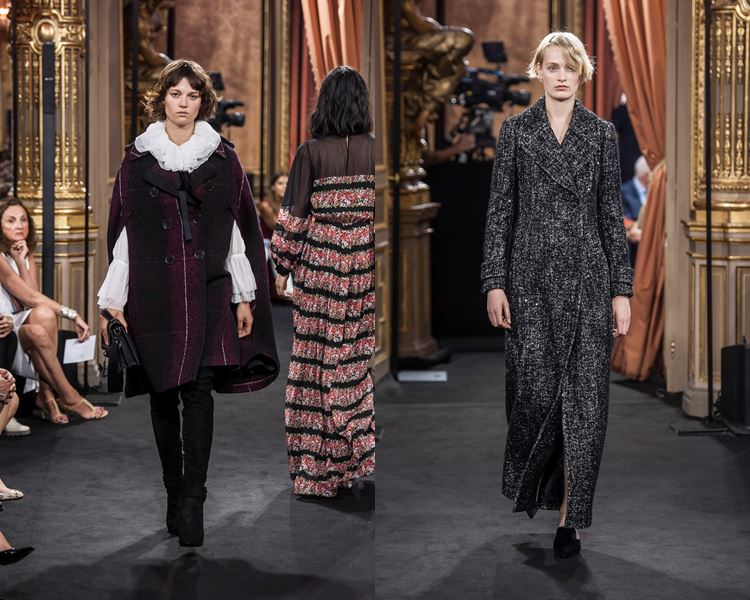 Коллекция Massimo Dutti осень-зима 2017-2018: короткое пальто кейп и серое длинное пальто с запахом