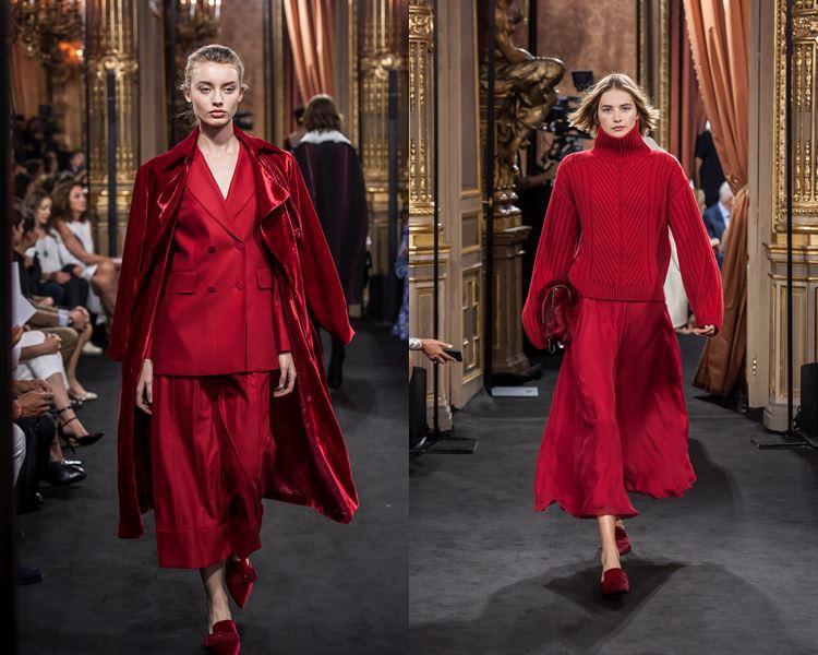 Коллекция Massimo Dutti осень-зима 2017-2018: красные костюмы с кюлотами, юбкой, пиджаком и свитером