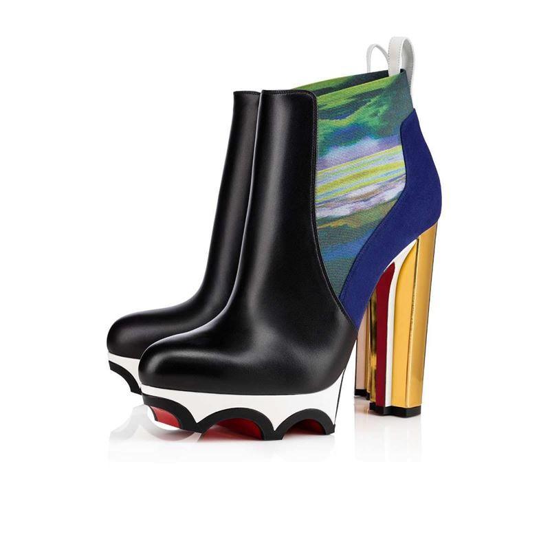 Коллекция Christian Louboutin осень-зима 2017-2018: ботильоны на платформе и высоком устойчивом каблуке