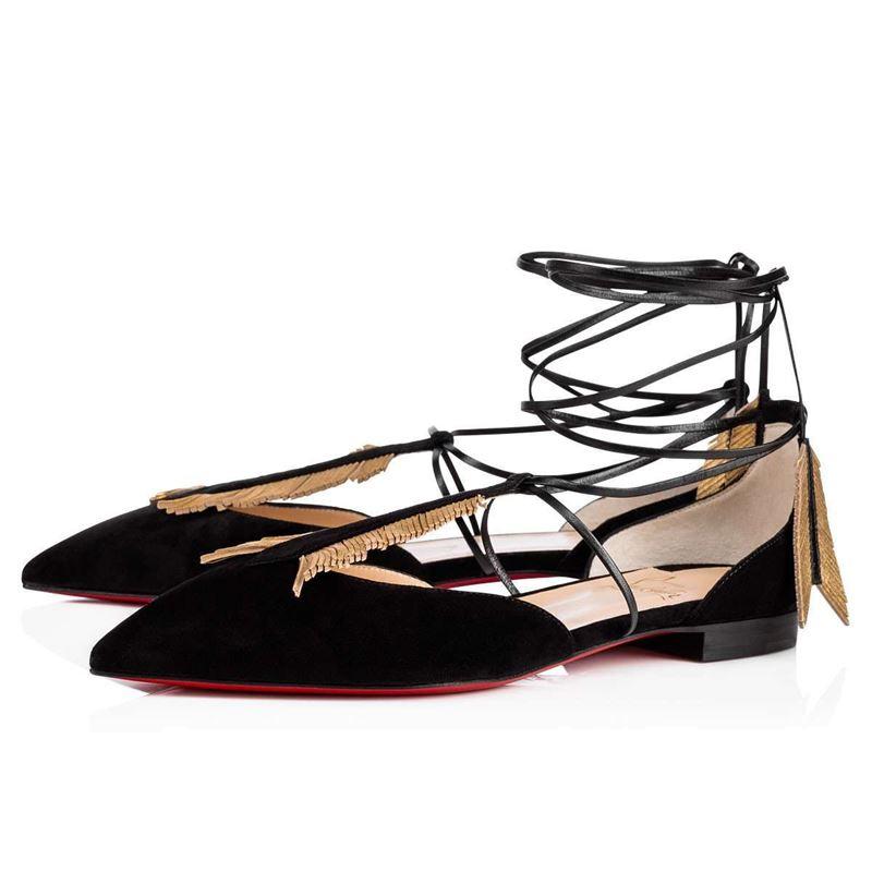 Коллекция Christian Louboutin осень-зима 2017-2018: плоские римские сандалии балетки