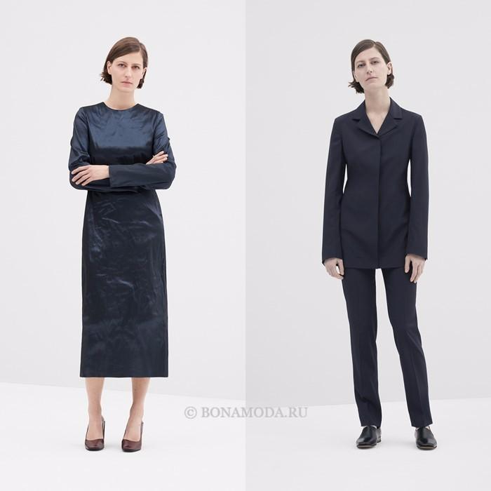 Лукбук коллекции COS осень-зима 2017-2018: платье миди и брючный костюм