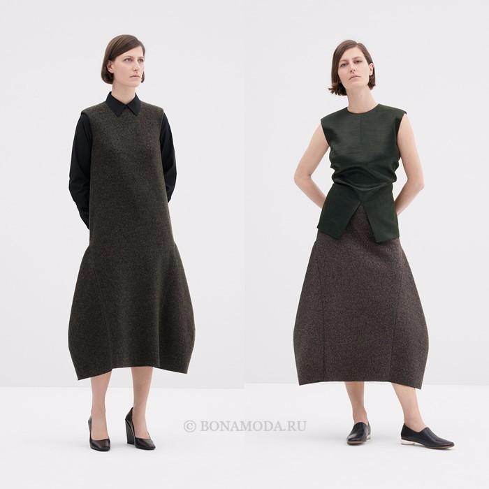 Лукбук коллекции COS осень-зима 2017-2018: платье и юбка архитектурного кроя
