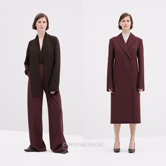 Лукбук коллекции COS осень-зима 2017-2018: брюки с блузкой и пальто