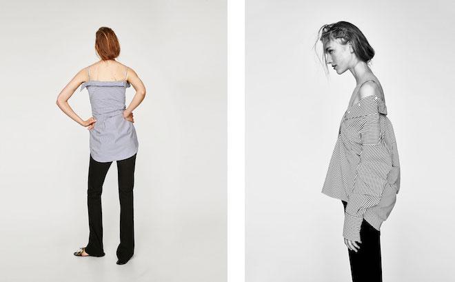 Лукбук коллекции Zara осень-зима 2017-2018: рубашка оверсайз и черные брюки